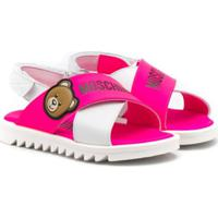 Moschino Kids Sandália Toy Bear - Rosa
