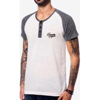 Camiseta Henley Raglan Duo Hermoso Compadre Masculina - Masculino