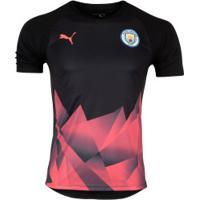 Camisa Pré-Jogo Manchester City 19/20 Puma - Masculina - Preto