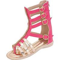 Sandália Infantil Plis Calçados Carol Feminina - Feminino-Pink