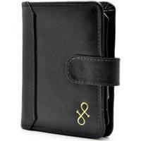 Carteira Couro Hendy Bag Com Porta-Cheque Feminina - Feminino-Preto