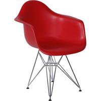 Poltrona Eames Dar Com Braço- Vermelha- 70X52X60Cm