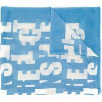 Iris Von Arnim Cachecol De Cashmere Com Estampa - Azul