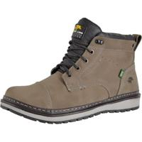 Bota Casual Bell Boots Couro Masculina - Masculino-Cinza