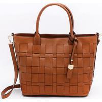 Bolsa Tote Wj Shopping Bag Caramelo - Único