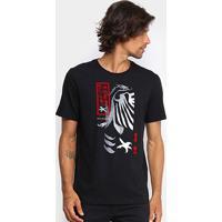 Camiseta Cavalera Sakura Masculina - Masculino-Preto