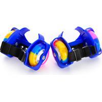 Patins Infantil Easy Roller Para Adaptar No Tênis Rodas Coloridas Azul