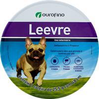 Coleira Ectoparasiticida Leevre Para Cães Com 1 Unidade De 25,5G Com 48Cm