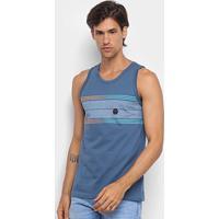Regata Hd Long Stripes Masculina - Masculino-Azul Petróleo