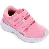 Tênis Infantil No Stress Running Velcro - Feminino-Rosa Bebê
