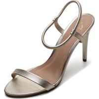 Sandália Ala Metalizada Dourado