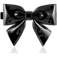 Laço Giullia Ferraz Store Mel Luxo Black Acetato - Feminino-Preto