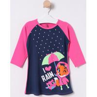"Camisola ""I Love Rain"" - Azul Marinho & Pinkpuket"