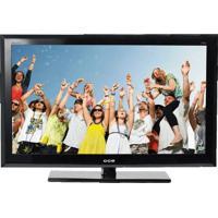 """Tv 32"""" Lcd Slim Cce C320 - Entradas Usb E Hdmi - Conversor Digital - Preta"""