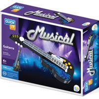 Bloco De Montar Click It Guitarra Com 171 Peças Preto Play Cis