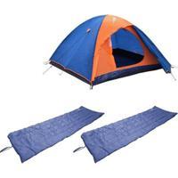 Kit Barraca Camping Tipo Iglu Falcon Até 3 Pessoas Nautika + 2 Colchonetes Camp Mat - Unissex