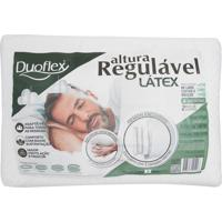 Travesseiro Duoflex Regulável Látex Branco