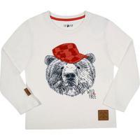 Camiseta ''Urso''- Branca & Vermelhatip Top
