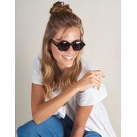 Óculos De Sol Ovato - Preto U