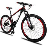 Bicicleta Aro 29 Ksw Xlt 21V Câmbios Shimano Freio A Disco Mecânico Com Suspensão - Unissex