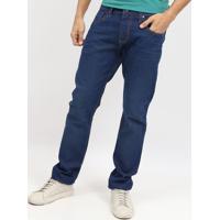 Jeans Reto Com Bigodes - Azul - Colccicolcci