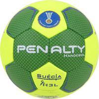 Bola De Handebol Penalty Suécia H3L Ultra Grip X - Unissex-Verde+Amarelo
