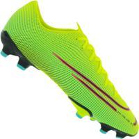 Chuteira Futsal Nike Mercurial Vapor 13 Academy Mds Fg/Mg - Adulto - Amarelo Fluor/Preto