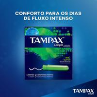 Absorvente Interno Tampax Compak Super 8 Unidades