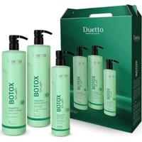 Kit Tratamento Botox Brush Duetto 1 Sampooo 1L + 1 Máscara 1L + Selador 500Ml - Unissex-Incolor