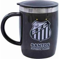 Caneca Térmica Com Tampa 450Ml - Santos - Unissex
