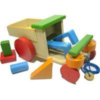Carrinho Tec-Tec 100% Artesanal Kits E Gifts Peças Geométricas Marrom