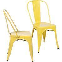 Jogo De Cadeiras De Jantar Retrã´- Amarelo- 2Pã§S-Or Design