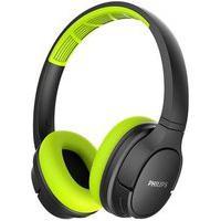 Fone De Ouvido Bluetooth Philips Sport, Preto/Verde - Tash402Lf/00
