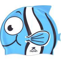 Touca De Natação Muvin Em Silicone Kid Nemo Azul