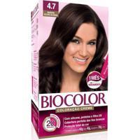 Tintura Biocolor Coloração Creme Marrom Escuro 4.7 Mini Kit