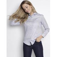 4490e3e769 Camisa Listrada Em Algodão Egípcio - Azul   Branca -Dudalina