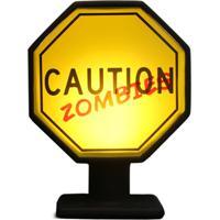 Luminária Casa Da Mãe Joana Placa Caution Zombies