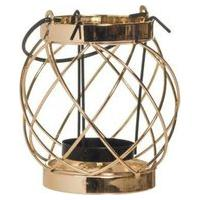 Porta Vela Natalino Pequeno Aramado Dourado 32Cm 1 Unidade