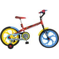 Bicicleta Caloi Hot Wheels - Aro 16 - Freio Cantilever - Infantil - Vermelho