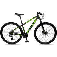 Bicicleta Aro 29 Quadro 17 Alumínio 24 Marchas Freio Disco Mecânico Z4-X Preto/Verde - Dropp