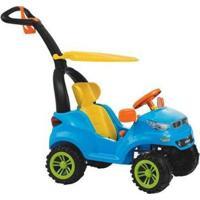 Carrinho De Passeio Infantil Push Car Easy Ride 726 Com Pedal Com Empurrador Com Capota - Masculino-Azul