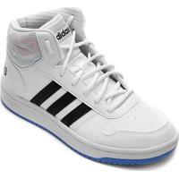 Tênis Infantil Adidas Hoops Mid 20 K - Unissex-Branco+Azul