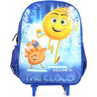 Mochila Infantil Santino Escolar Carrinho Emoji - Masculino-Azul Royal