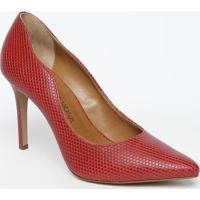 Scarpin Texturizado- Vermelho- Salto: 10Cmmorena Rosa