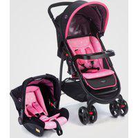 Carrinho De Bebê Travel System Nexus Cosco Rosa