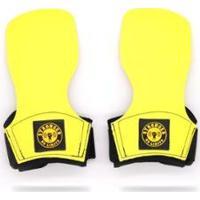 Hand Grip Be Stronger Cross Training Luva Protetor Palmar Pull Up Unissex - Unissex-Amarelo