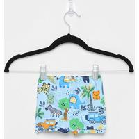 Shorts Infantil Up Baby Estampado Masculino - Masculino-Azul