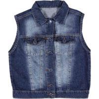 Colete Jeans Disnep Masculino - Masculino-Azul
