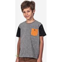 Camiseta Hermoso Compadre Estampada Bolso Mostarda - Masculino