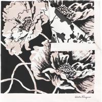 Salvatore Ferragamo Echarpe De Seda Com Estampa Floral - Neutro
